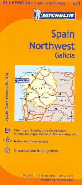 Michelin Map Northwest, Galicia, Spain