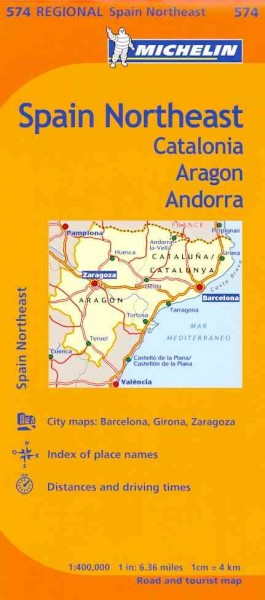 Michelin Map Northeast Catalunya, Aragon, Andorra, Spain