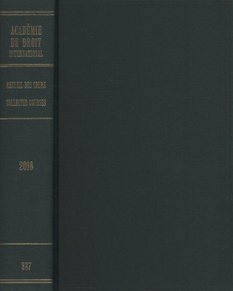 Recueil Des Cours, Collected Courses